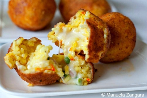 Arancine with Cheese Sauce