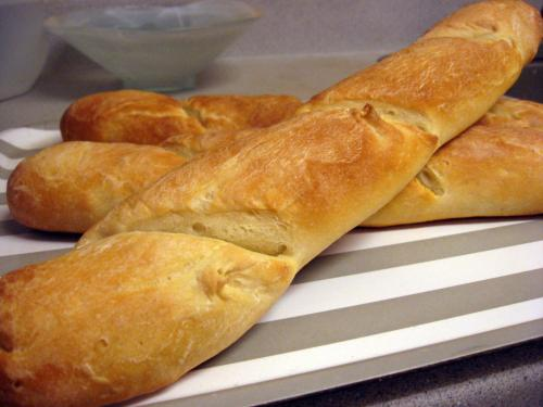 Bake the baguettes