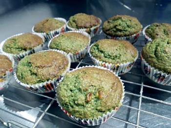Banana and Spinach Muffins
