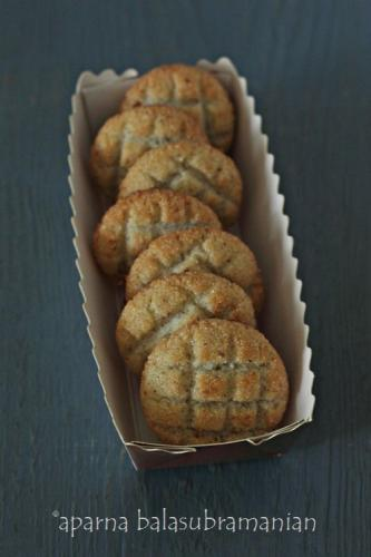 Cardamom Flavored Coconut Biscuits