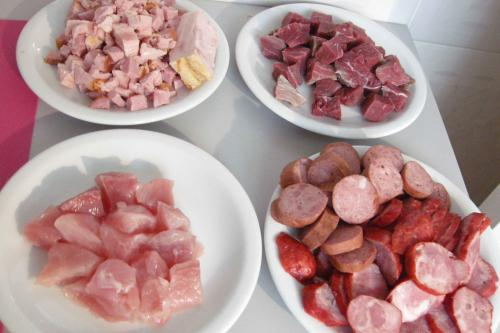 Chop all your bacon into small cubes