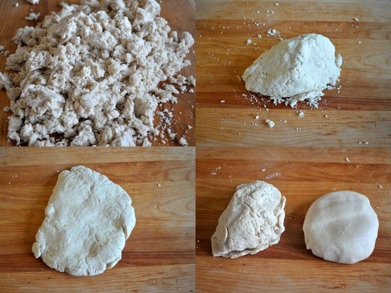 Combine the flour and salt