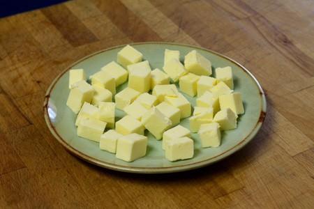 Cut the butter cubes