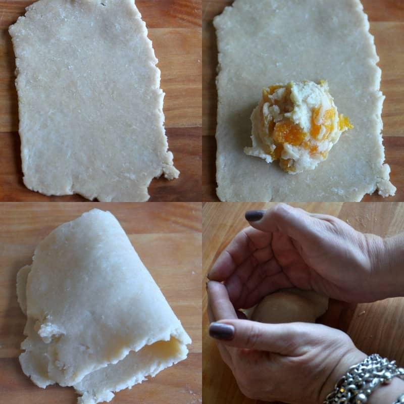 Divide the dough into 10 equal pieces