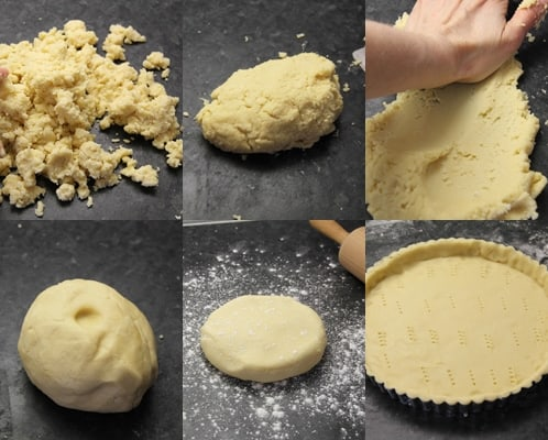 Gather the flour mixture into a mound