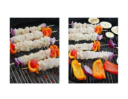 Place the skewers on the cooking grate