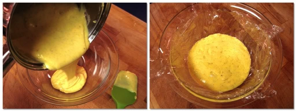 Pour the custard into a clean bowl