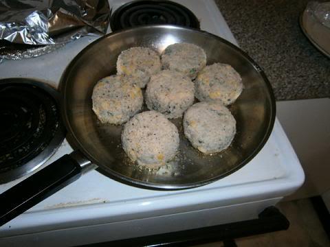 Preheat frying pan