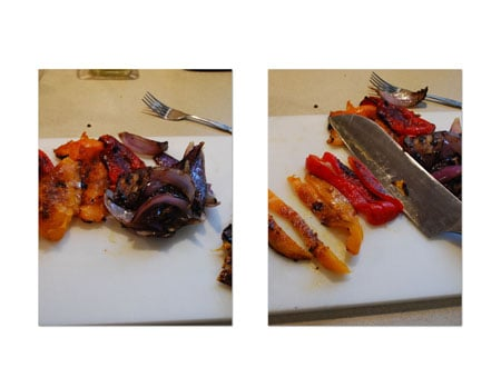 Slice the peppers into half-inch