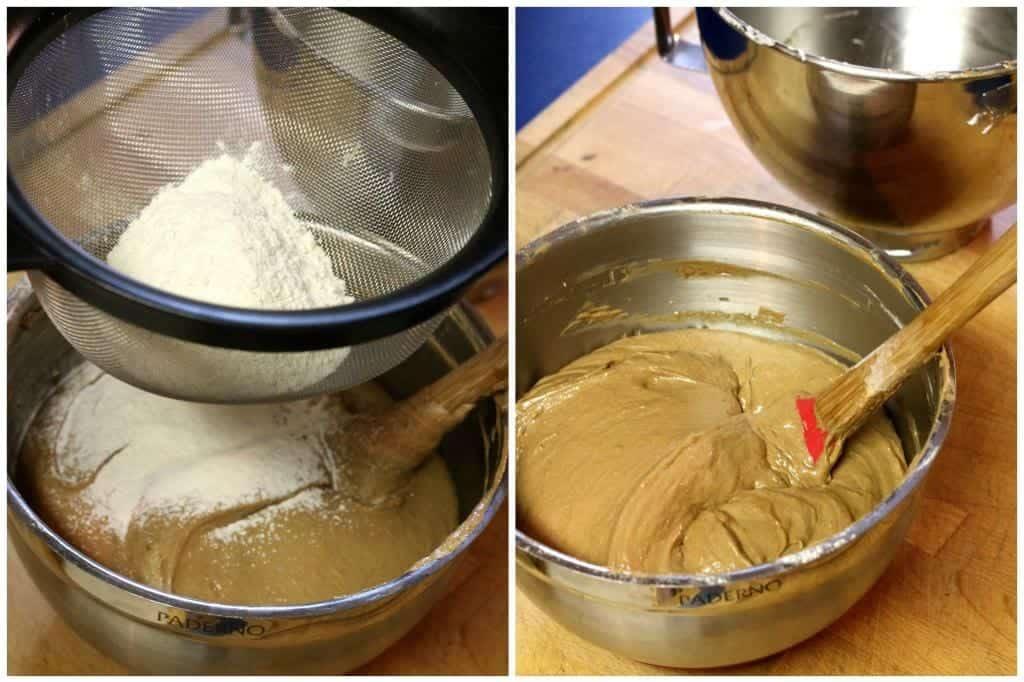 Stir together the flour and salt