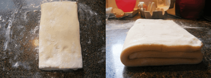 Then, fold the remaining flap of dough