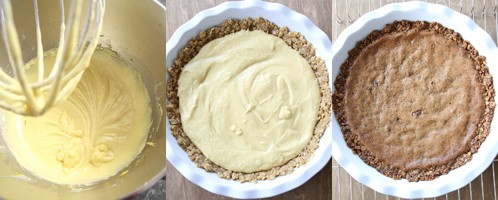 Transfer cookie crust mixture to pie dish
