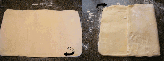 Turn the dough parcel over and tap the length of it