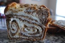 cut Povitica loaves into slices