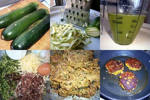fresh zucchini, grated zucchini