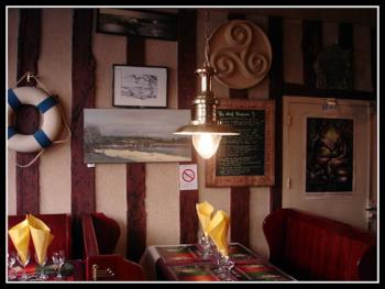interior of a typical crêperie