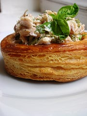 larger-size with chilled tuna salad