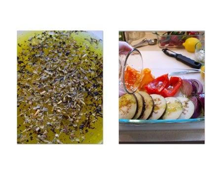 salt, pepper, and oregano