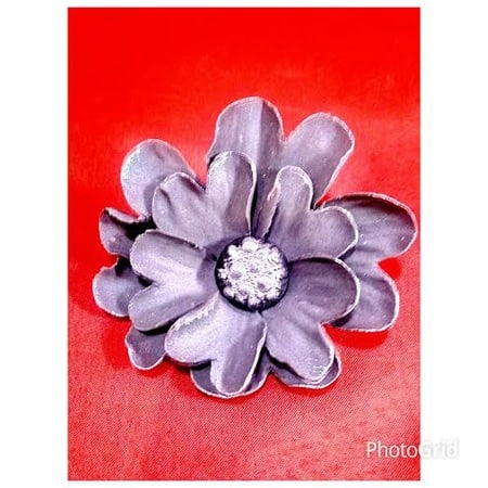 smaller flower inside the larger flower