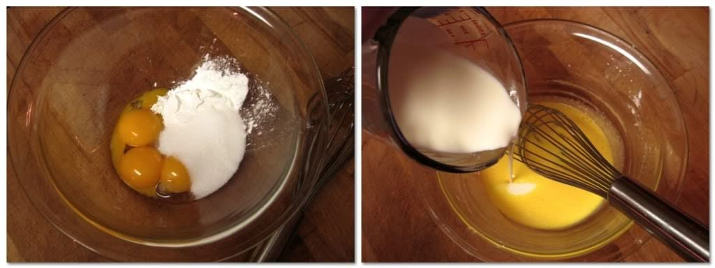 whisk together the cornstarch, sugar, and egg yolks