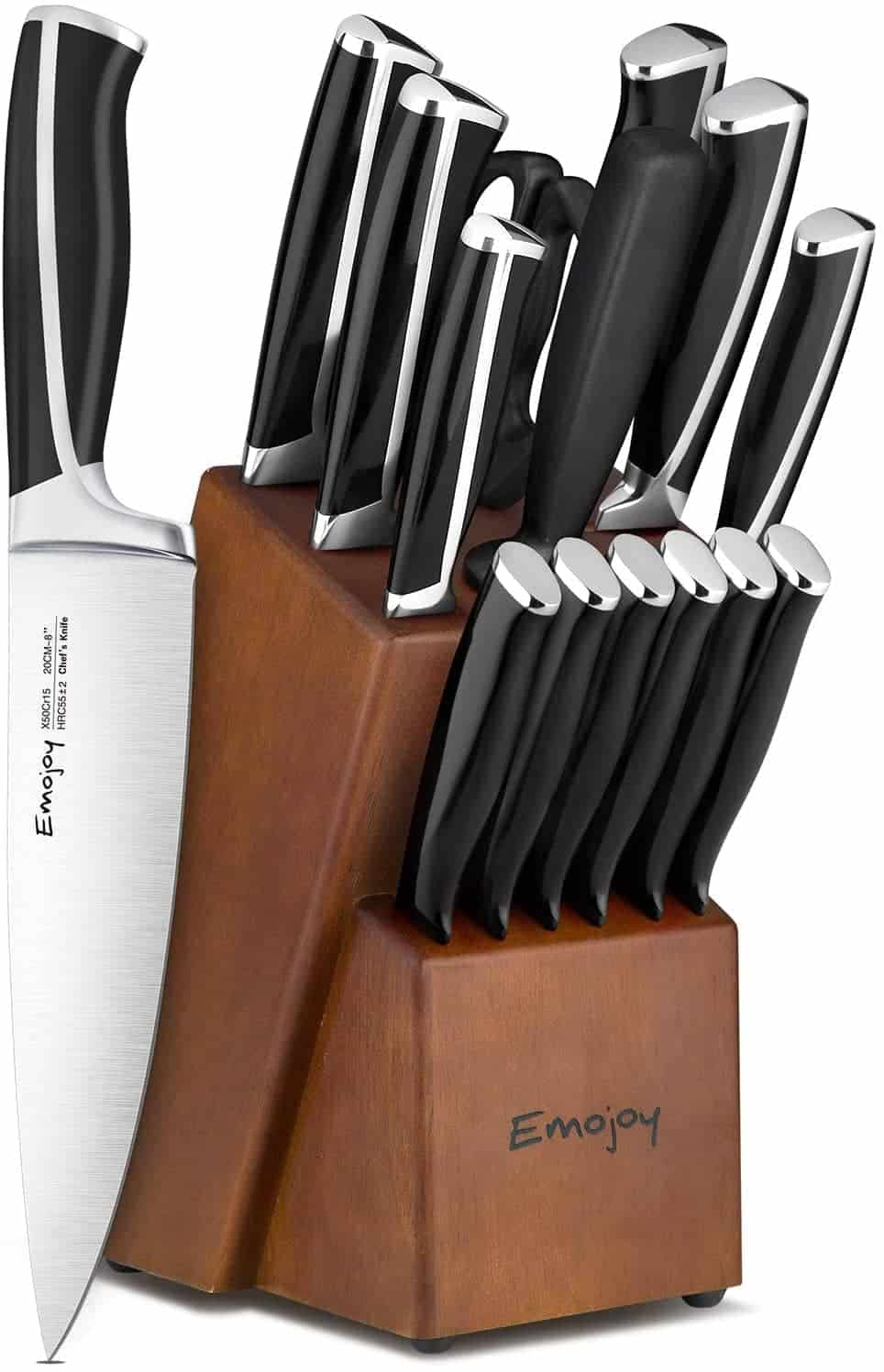 Emojoy 15-Piece Kitchen Knives