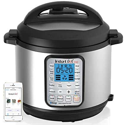 Instant Pot Smart Bluetooth 6 Qt 7-in-1 Programmable Cooker