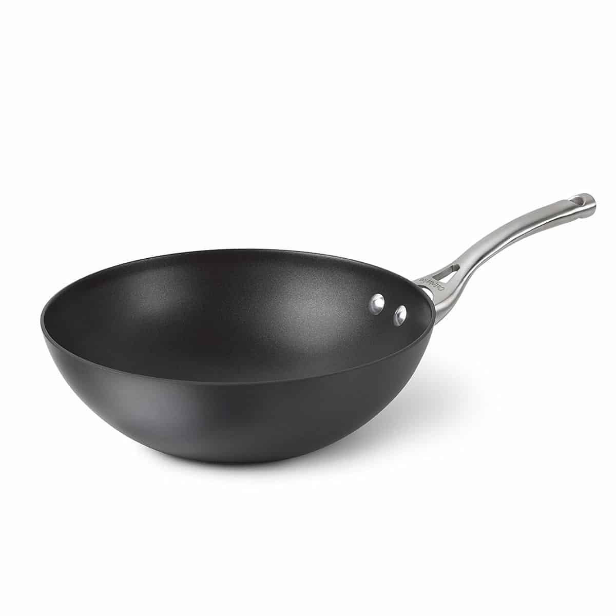 Calphalon Contemporary Hard-Anodized Aluminum Nonstick Cookware, Flat-Bottom Wok, 10-inch, Black, Best woks
