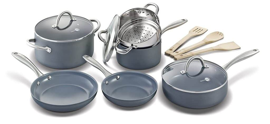 GreenPan Lima 12pc Ceramic Non-Stick Set