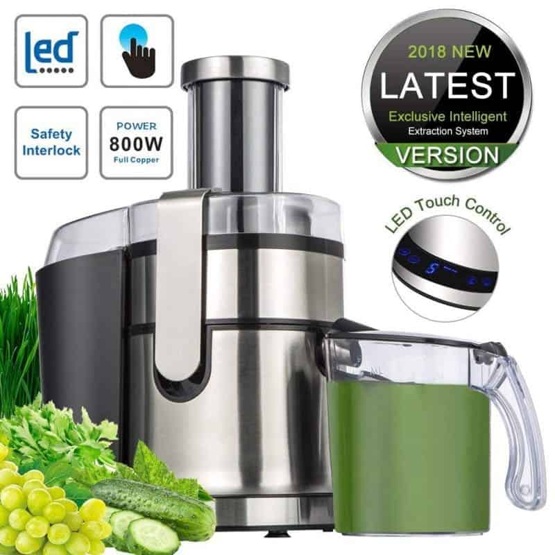 SOMOYA JE-80 Extractor,Wide Mouth Masticating Juicer Machine