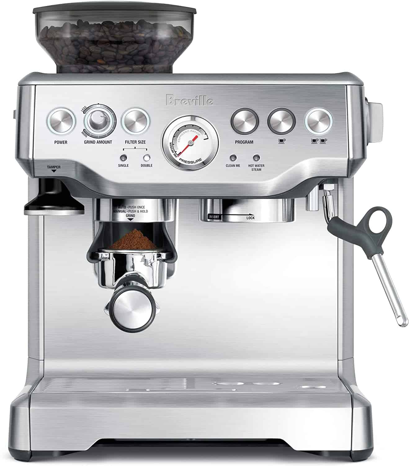 Coffee Maker with Grinder made by Breville in Espresso Style