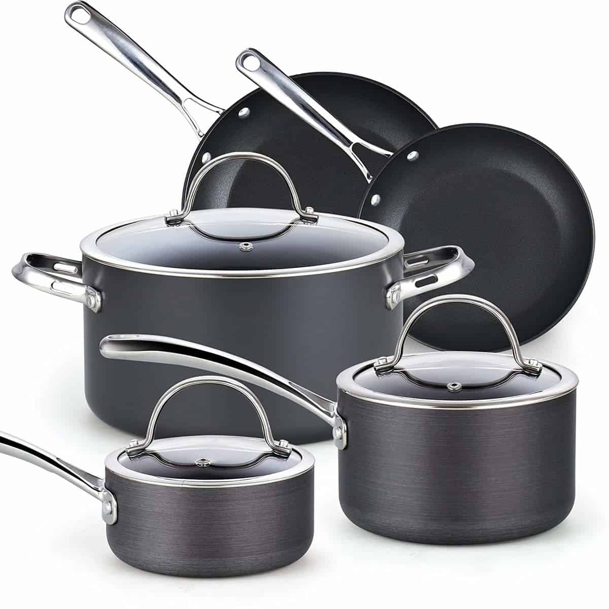 Cooks Standard Nonstick Hard Anodized Cookware Set, Black