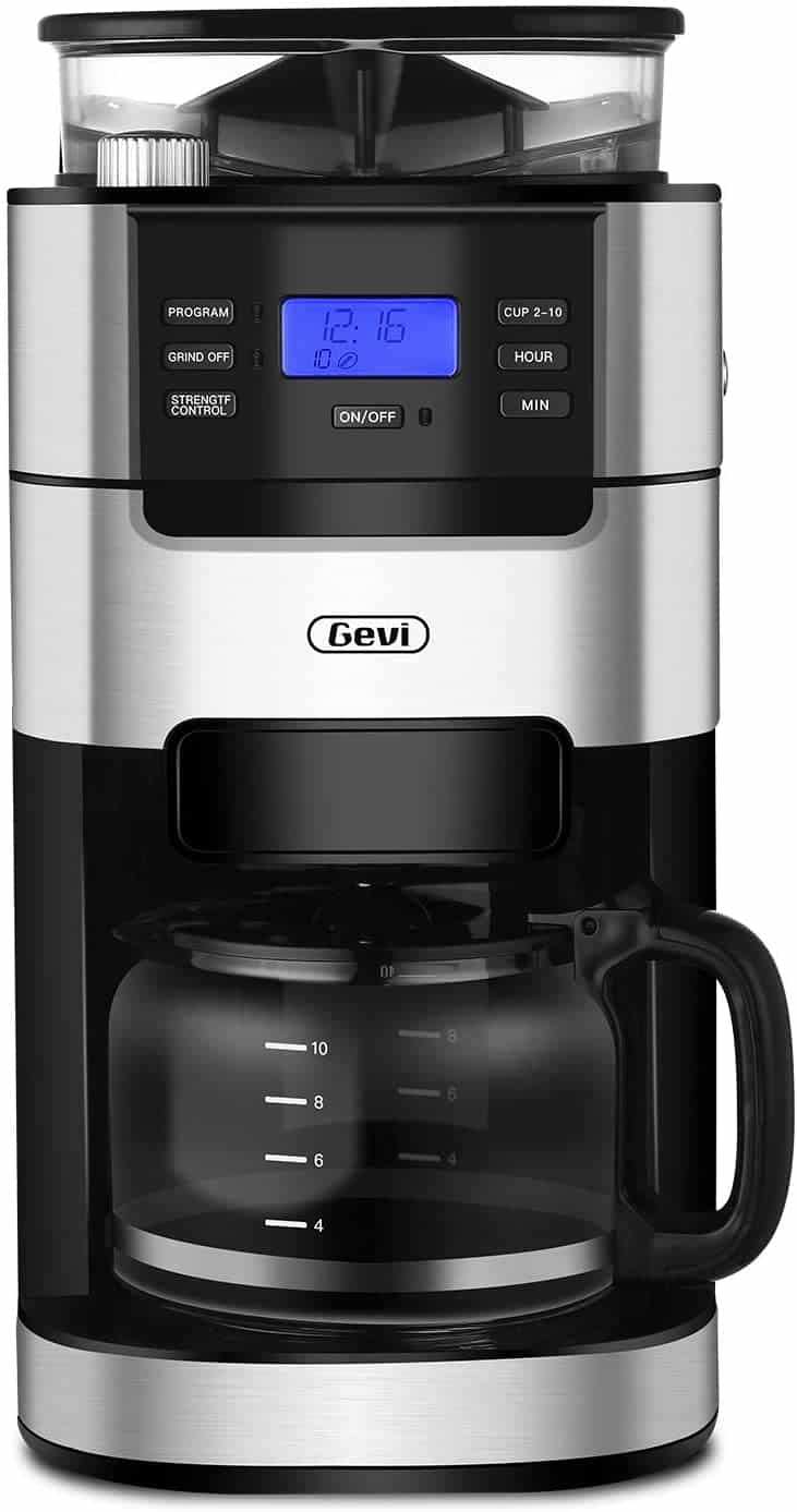 Gevi 10-Cup Coffee Maker with Grinder