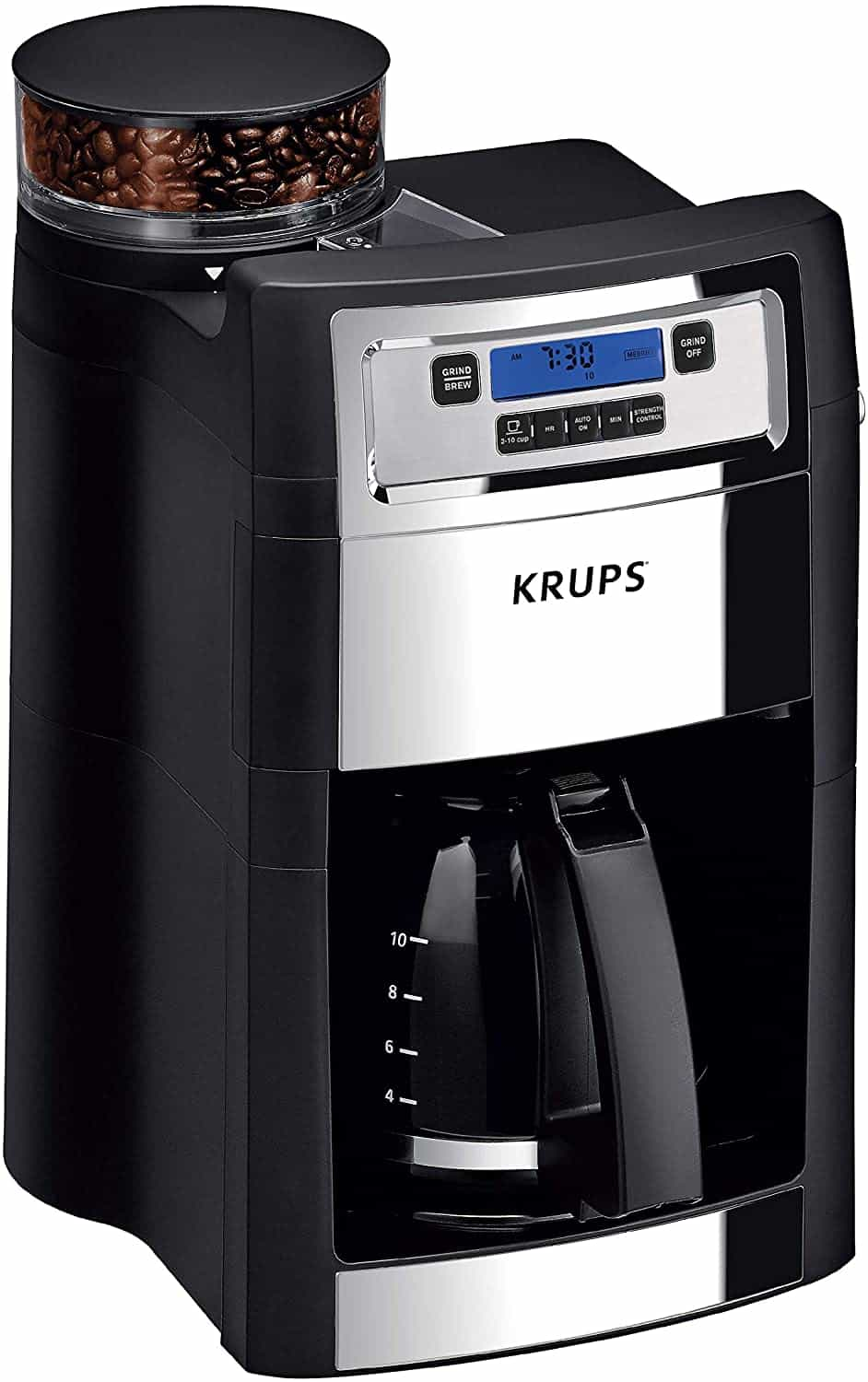 KRUPS Grind and Brew Coffee Maker with Grinder