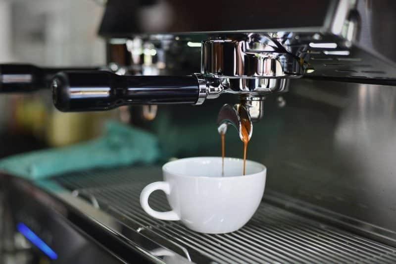 Coffee maker serving coffee
