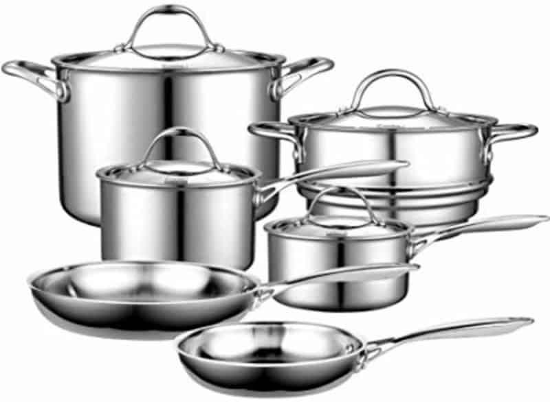 Cooks Standard 10 Piece Multi Ply Cookware Set