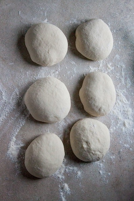 Divide dough in six equal pieces