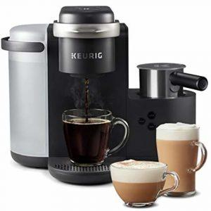 Keurig K Cafe Single Serve K Cup Pod Coffee Maker, Black
