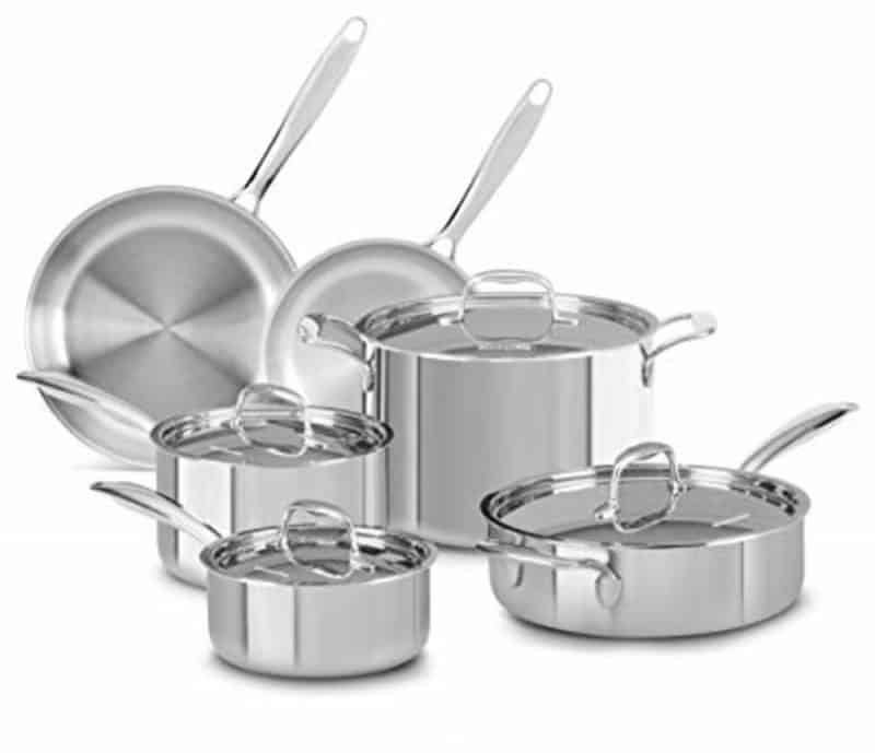 KitchenAid Try-Ply 10 Piece Stainless Set