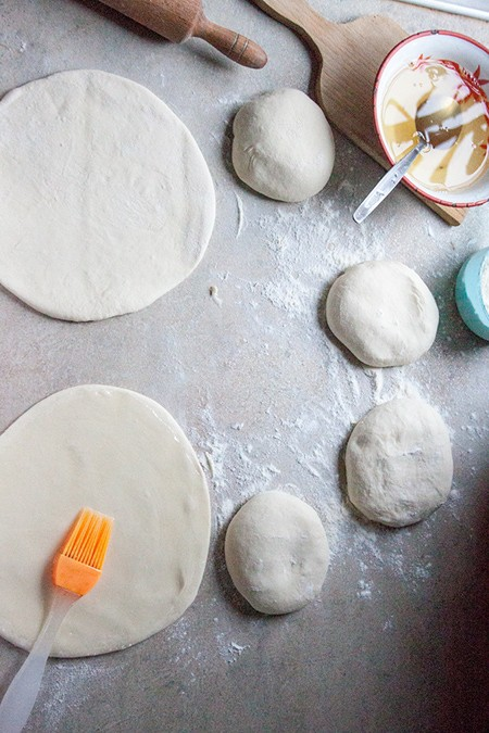 roll every piece of dough into flat