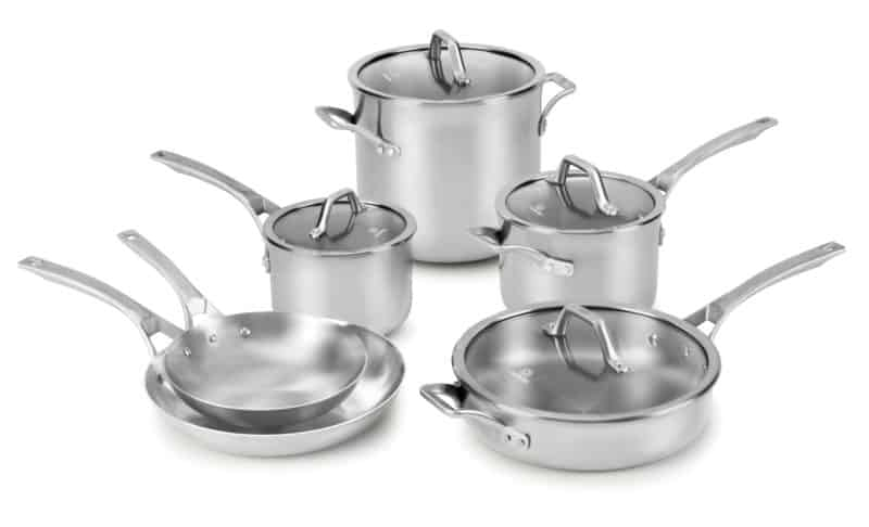 Calphalon Signature Stainless Steel 10-pc. Cookware Set
