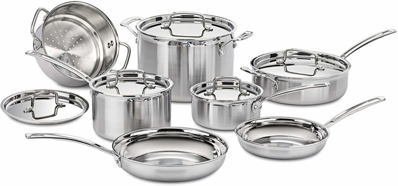 Cuisinart Multi-Clad Pro Stainless Steel 12-Piece Cookware Set