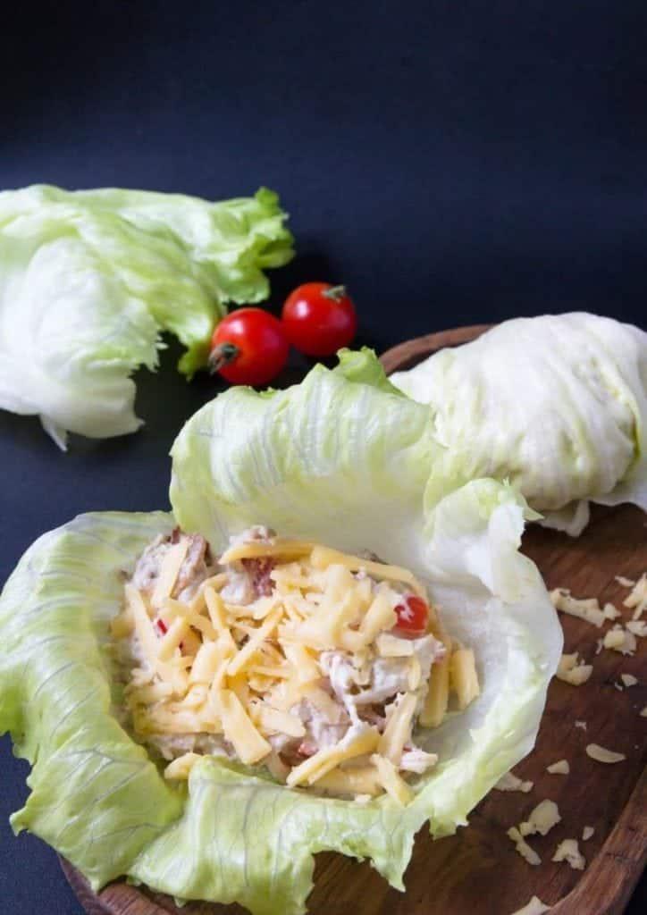 Chicken Bacon Keto Wrap