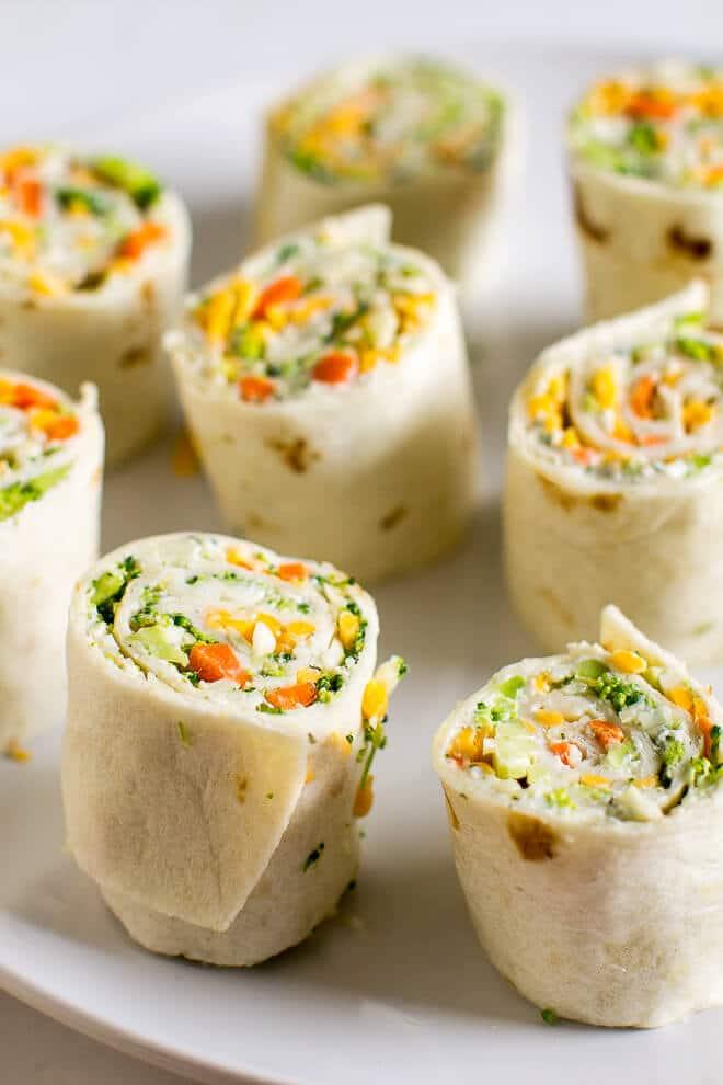Cream Cheese Veggie Roll Ups