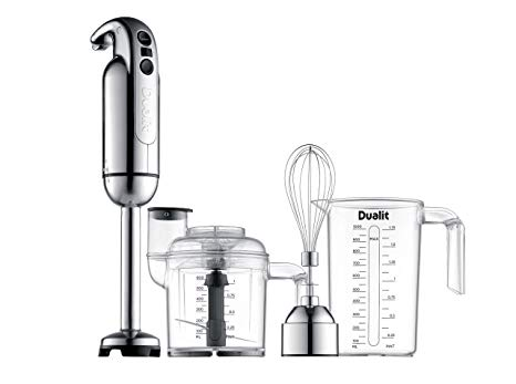 The Dualit Immersion Blender is pictured with the Accessory Kit