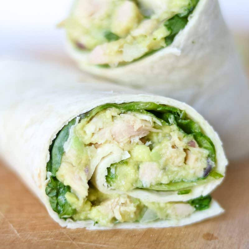Easy Avocado Tuna Wrap