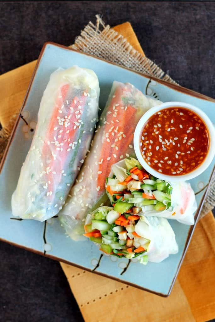 Fresh Vegetable Crunchy Rolls