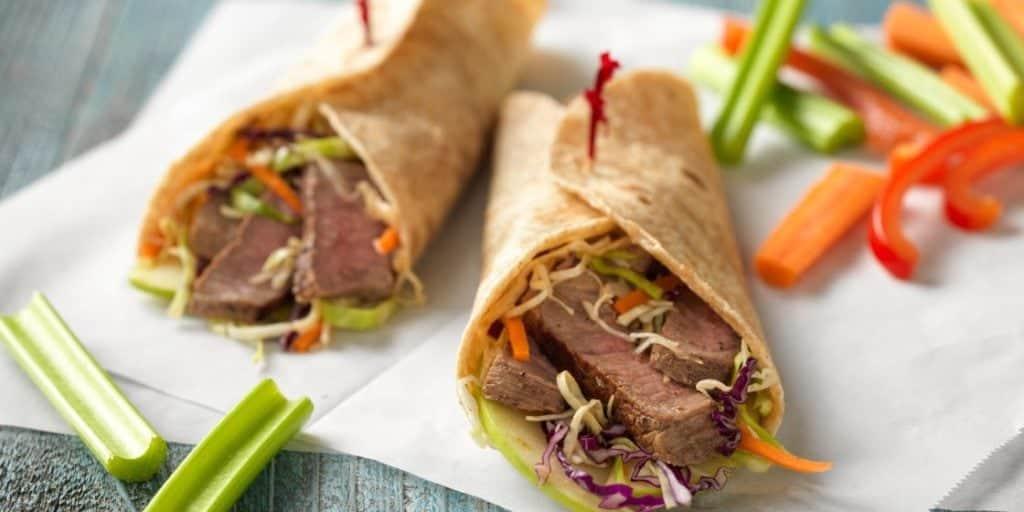 Mu Shu Steak Wraps