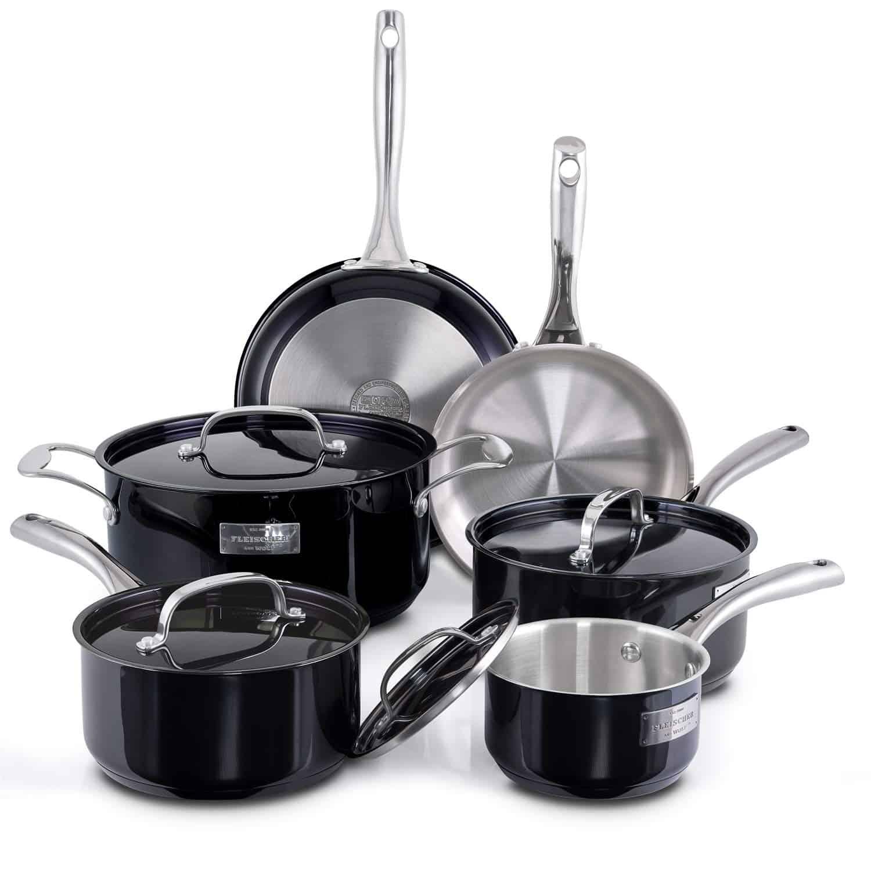 Fleischer & Wolf Titanium Cookware Professional Set
