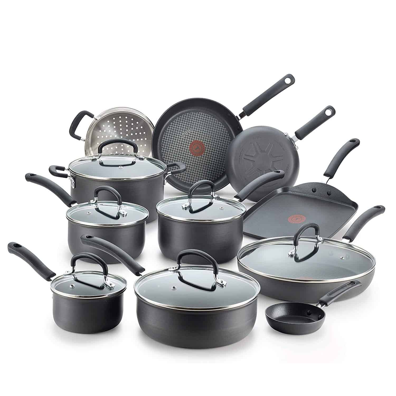 T-fal E765SH Anodized Titanium Cookware Set