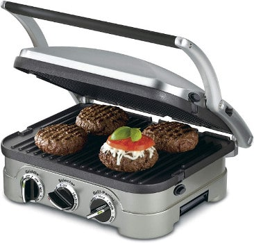 CUISINART PANINI PRESS 5-IN-1 GRIDDLER, GR-4N
